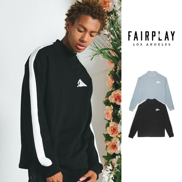 【GT】FairPlay Auric 黑藍 長袖T恤 重磅 純棉 寬鬆 落肩 復古 休閒 美牌 上衣 衛衣 長T 小高領