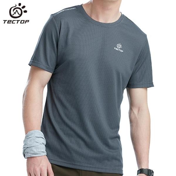 TECTOP/探拓 夏季速干T恤男吸汗衣圓領戶外運動速干衣女短袖透氣