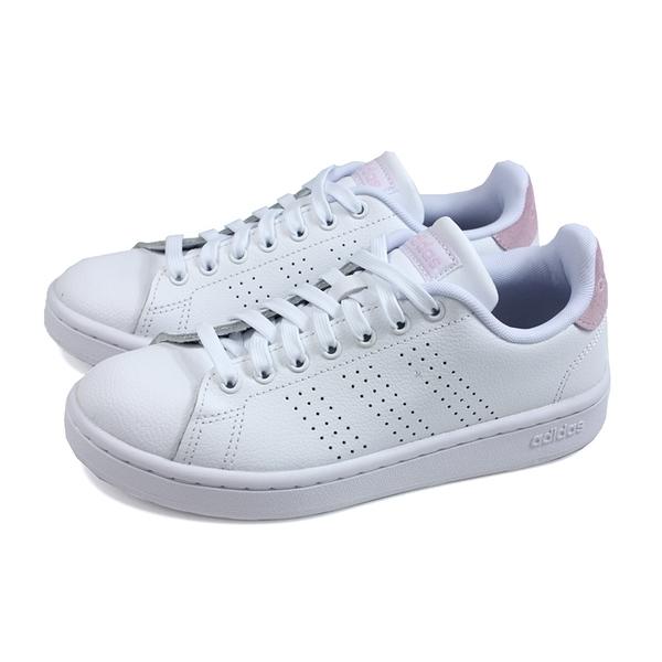 adidas ADVANTAGE 網球鞋 運動鞋 白/粉紅 女鞋 F36481 no864