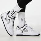 【雙12折後$2680】Nike Air Force 1 LV8 KSA GS 白 黑 銀 女鞋 大童鞋 反光 運動鞋 休閒 CT4683-100