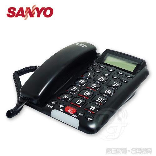 《一打就通》SANYO 三洋全免持來電顯示有線電話 TEL-011-(黑)