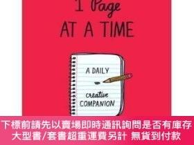 二手書博民逛書店1罕見Page at a Time (Red): A Daily Creative Companion-一次1頁(