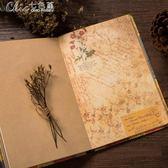 A5歐式復古風格彩頁日記本個性創意牛皮紙插畫心情筆記本子禮品「Chic七色堇」