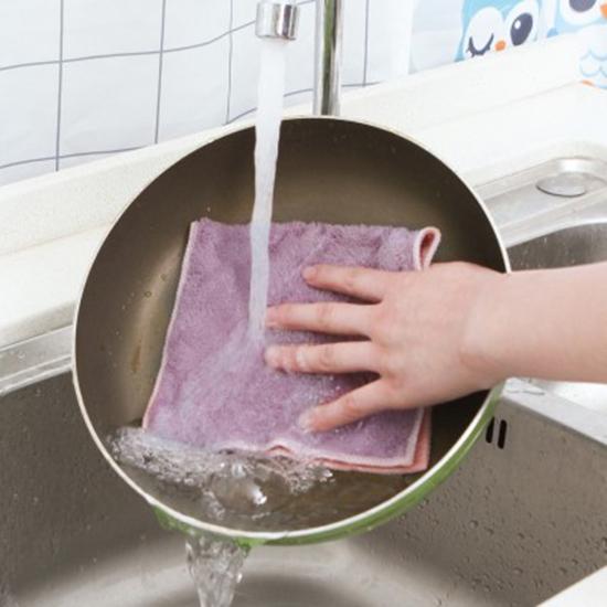 吸水不掉毛柔軟抹布 洗碗巾 不沾油 家用 廚房 洗碗布 清潔巾【P358】MY COLOR