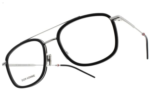 Dior 光學眼鏡 229 CSA (黑-銀) 復古飛行款 粗曠鏡框設計 # 金橘眼鏡