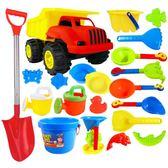 1兒童沙灘玩具車套裝寶寶玩沙子大號挖沙漏鏟子嬰兒洗澡決明子工具xw