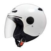 【東門城】ZEUS ZS210BC 素色 白 雙鏡片 內襯全可拆洗 包覆性佳 3/4罩安全帽