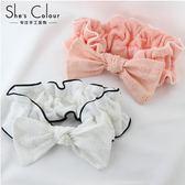 洗臉發帶束簡約發箍月子頭巾防滑韓國可愛頭箍女 俏女孩