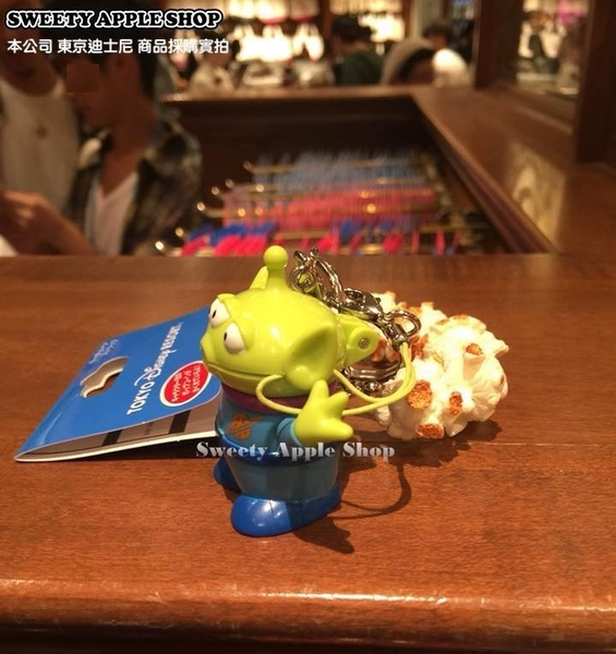 (現貨&樂園實拍)  東京迪士尼 玩具總動員 三眼怪 迷你爆米花桶造型 鑰匙圈吊飾