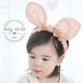 髮帶 韓版 寶寶 可折 兔耳朵 蝴蝶結 髮飾 BW