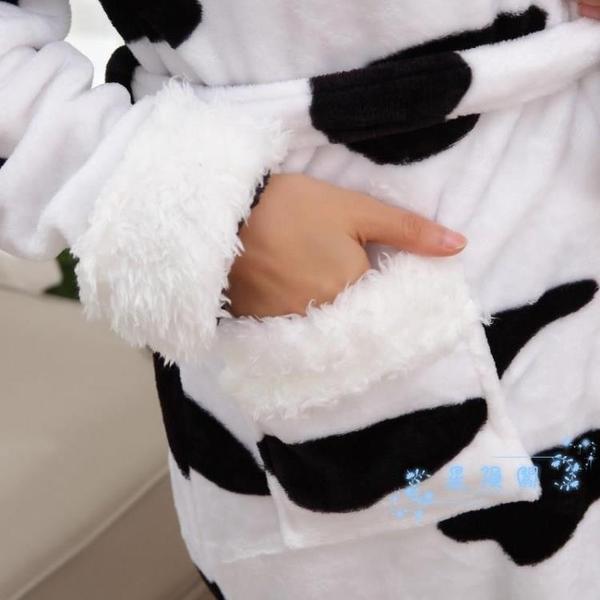浴袍 睡袍睡衣女士冬季加厚法蘭絨浴袍春秋加絨中長款男情侶珊瑚絨浴衣