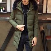 夾克外套-連帽時尚中長版秋冬百搭夾棉男外套2色73qa20【時尚巴黎】