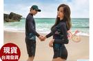 草魚妹-A218泳衣長袖拉鍊情侶泳衣浮潛泳裝比基尼正品,單女1600元