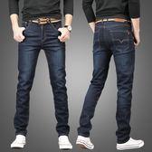 牛仔褲男 Lidoose男士直筒牛仔褲男夏季薄款修身男褲青年商務寬鬆休閒長褲 米蘭街頭