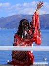 民族風圍巾超大防曬披肩夏季薄款外搭絲巾女士百搭海邊紗巾沙灘巾 依凡卡時尚
