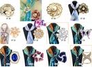 依芝鎂-k1218絲巾扣多款絲巾環領巾環扣,售價199元
