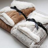小毯子午睡毯單人雙層加厚純色冬天辦公室小毛毯休閒多用蓋腿毯子 晶彩生活
