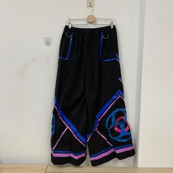 韓版百搭基本款高腰表演寬褲(F碼/121-7373)