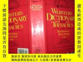 二手書博民逛書店Webster s罕見Dictionary including thesaurus of synonyms ant