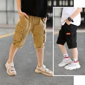男童短褲外穿夏裝薄款新款兒童褲子工裝褲中大童洋氣純棉中褲