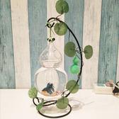 魚缸擺件玻璃金魚裝飾吊掛春節家居魚缸創意辦公桌面【不二雜貨】