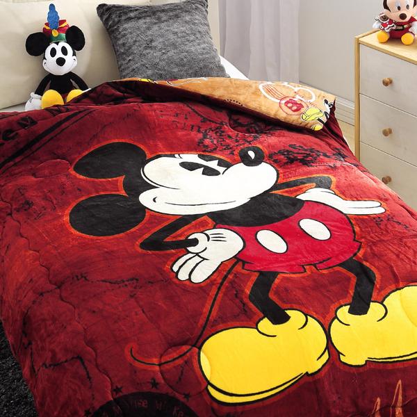 毯子 / 毛毯【咖啡米奇】法蘭大毛毯  正版授權  戀家小舖