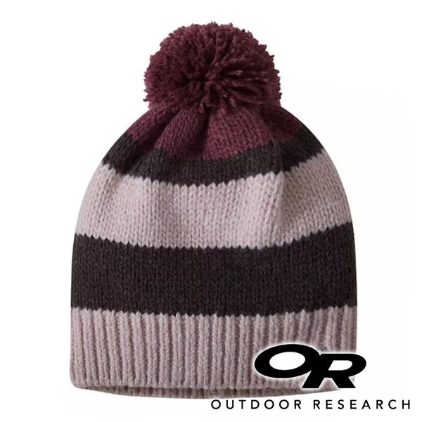 【OR 美國】W's Lily 女羊毛混紡透氣彈性保暖帽『1577 灰紅』271523 登山|旅遊|戶外|毛帽|冬季