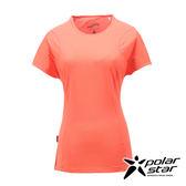 PolarStar 女 甲殼素抗菌T恤『粉橘』P17150 吸濕排汗透氣T-shirt短袖運動服瑜珈休閒服短袖透氣運動服
