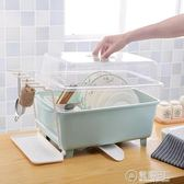 碗架碗櫃塑料廚房瀝水碗架帶蓋碗筷餐具收納盒放碗碟架滴水碗盤置物架WD 電購3C