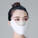 夏防曬口罩女薄款戶外防塵可清洗透氣易呼吸遮陽蕾絲防紫外線面罩 韓美e站