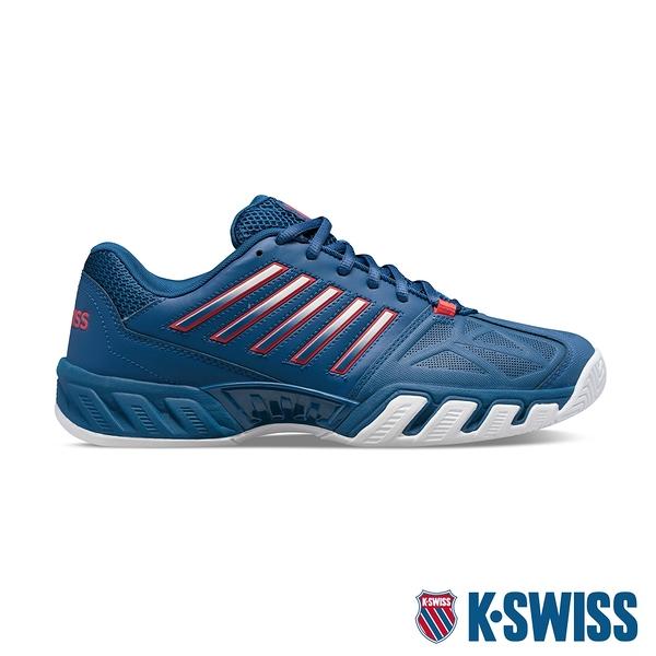 【超取】K-SWISS Bigshot Light 3輕量進階網球鞋-男-藍/紅