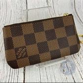 BRAND楓月 LOUIS VUITTON LV N62658 經典 棕色 棋盤紋 鑰匙包 零錢袋