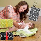 全館85折多功能收納包旅行便攜手提寶寶換尿布臺隔尿墊嬰兒尿布折疊媽咪包