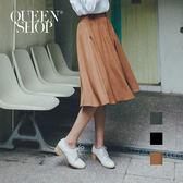 Queen Shop【04060275】腰鬆緊雪紡寬褲裙 三色售*預購*