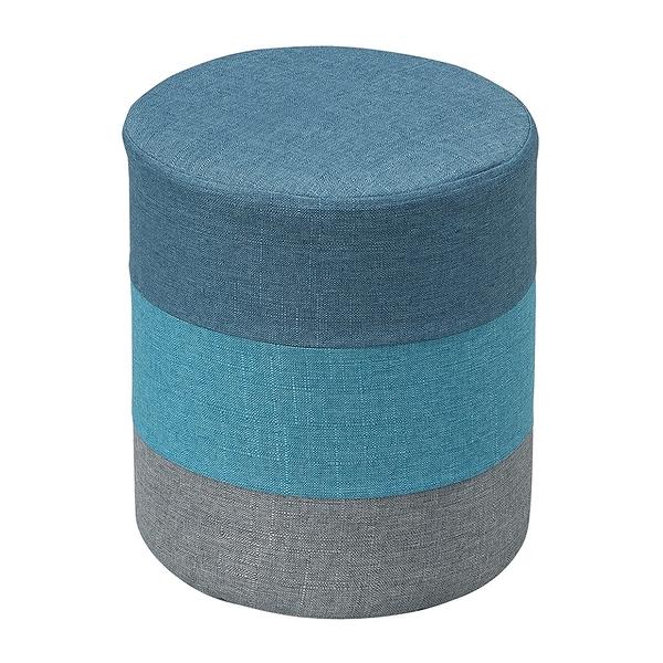【森可家居】蓉晟三色圓凳(藍色) 8ZX559-3 可拆洗 椅凳