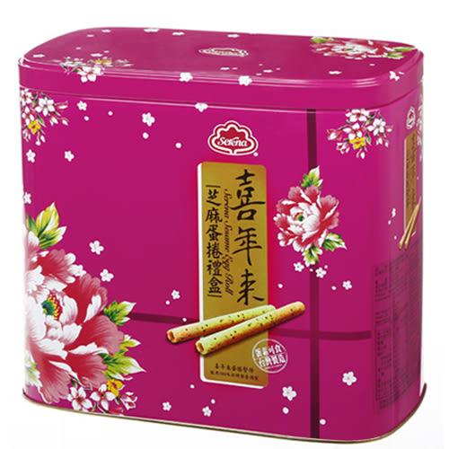 喜年來芝麻蛋捲禮盒512g【愛買】