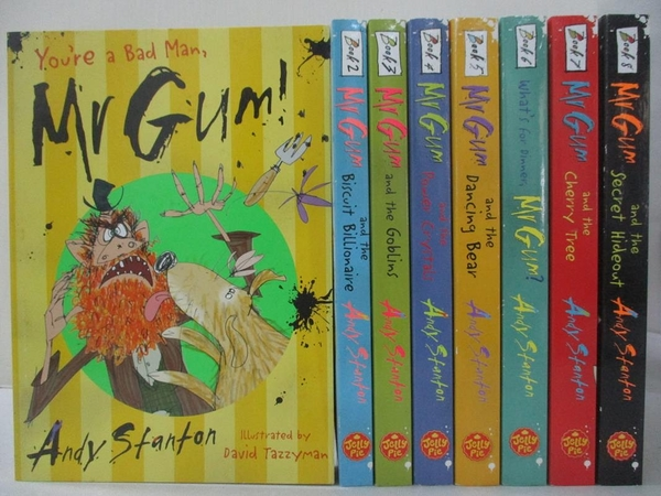 【書寶二手書T7/兒童文學_FVL】Mr Gum and the secret Hideout_You re a bad man Mr Gum_等…共8本合售_Andy Stanton