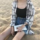 子襯衫女 寬鬆學生bf 長袖中長款 防曬襯衣薄外套 全館85折