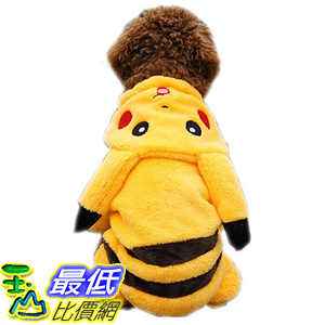 [美國直購] 神奇寶貝 精靈寶可夢周邊 PAWZ B00L4XTYIQ Road Pet Costume Dog Clothes Jumpsuits Cartoon Pikachu