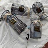 【四件套】玻璃花瓶擺件歐式田園餐廳透明玻璃水培花瓶創意插花瓶  樂芙美鞋