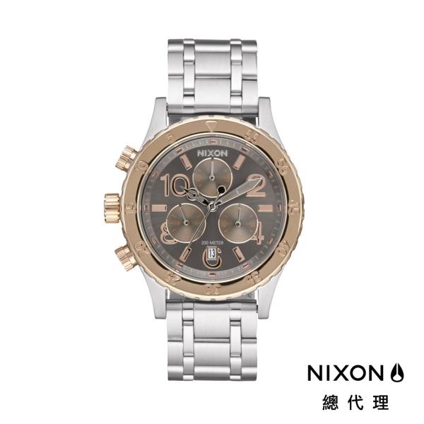 【官方旗艦店】NIXON 38-20 高傲霸氣 銀X玫瑰金 顯白 潮人裝備 潮人態度 禮物首選