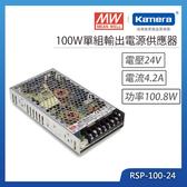 明緯 100W單組輸出電源供應器(RSP-100-24)
