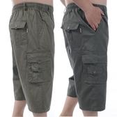 夏季中年男純棉七分褲中老年爸爸裝