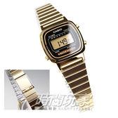 LA670WGA-1復刻金色 電子錶 黑金色 鬧鈴 碼錶 倒數計時 23mm 女錶 LA670WGA-1 CASIO卡西歐