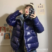 棉衣/棉服女-寬松百搭加厚棉服女冬裝年新款韓版假兩件牛仔拼接面包服外套 多麗絲旗艦店