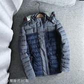 羊羔毛保暖棉衣外套 男冬季時尚休閑拼色短款連帽可拆棉服上衣 【創時代3C館】