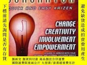 二手書博民逛書店The罕見Idea Generator: Quick And Easy Kaizen-創意制造者:快速簡單的改善奇