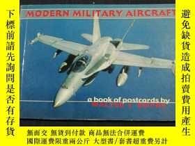 二手書博民逛書店MODERN罕見MILITARY AIRCRAFT (a book of postcards by WALTER