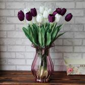 仿真10支裝郁金香絹花干花室內假花工藝品客廳餐桌擺設裝飾插花   夢曼森居家