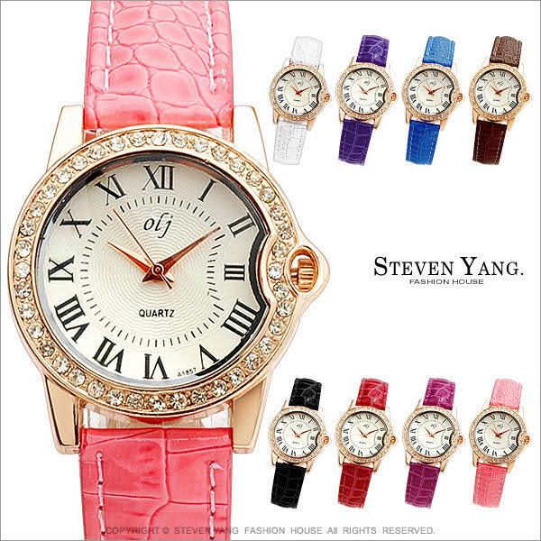 STEVEN YANG【KCB077】時尚手錶 高雅女孩手錶 知性名媛風 鱷魚皮纹*單個價格*